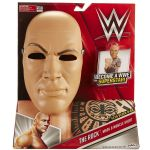 WW Wrestling - THE ROCK Mask & Muscle Shirt Dressing up Costume - NEW